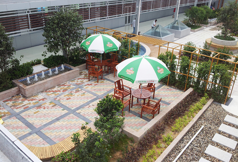 揭阳青岛啤酒厂空中花园景观工程