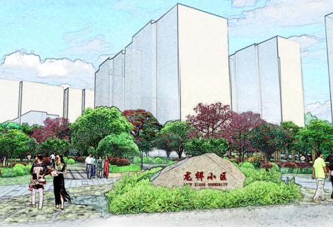 海南龙祥小区景观设计