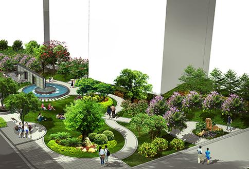 揭阳一中芬芳园设计